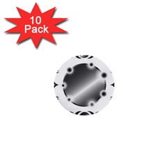 Metal Circle Background Ring 1  Mini Buttons (10 Pack)