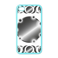 Metal Circle Background Ring Apple Iphone 4 Case (color) by Sapixe