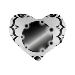 Metal Circle Background Ring Standard 16  Premium Flano Heart Shape Cushions