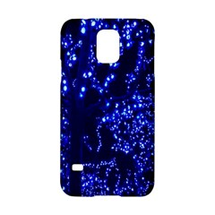 Lights Blue Tree Night Glow Samsung Galaxy S5 Hardshell Case  by Sapixe