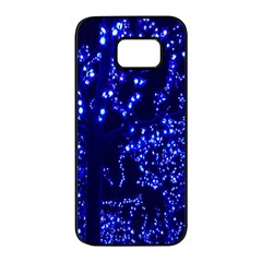 Lights Blue Tree Night Glow Samsung Galaxy S7 Edge Black Seamless Case