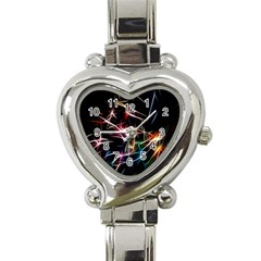 Lights Star Sky Graphic Night Heart Italian Charm Watch by Sapixe