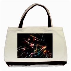 Lights Star Sky Graphic Night Basic Tote Bag (two Sides)