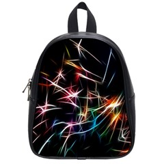 Lights Star Sky Graphic Night School Bag (small) by Sapixe