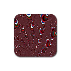 Mandelbrot Fractal Mathematics Art Rubber Square Coaster (4 Pack)  by Sapixe