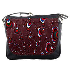 Mandelbrot Fractal Mathematics Art Messenger Bags by Sapixe