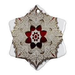 Jewelry Jewel Gems Gemstone Shine Snowflake Ornament (two Sides) by Sapixe