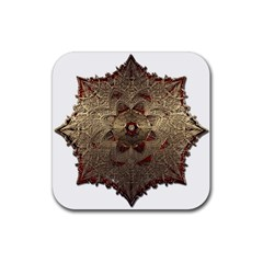 Jewelry Jewel Gem Gemstone Shine Rubber Coaster (square)  by Sapixe