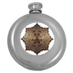 Jewelry Jewel Gem Gemstone Shine Round Hip Flask (5 Oz) by Sapixe