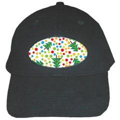 Pattern Circle Multi Color Black Cap by Sapixe