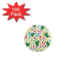 Pattern Circle Multi Color 1  Mini Magnets (100 Pack)