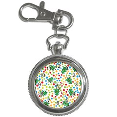 Pattern Circle Multi Color Key Chain Watches by Sapixe