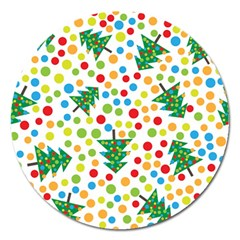 Pattern Circle Multi Color Magnet 5  (round) by Sapixe
