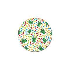 Pattern Circle Multi Color Golf Ball Marker (4 Pack) by Sapixe