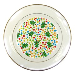 Pattern Circle Multi Color Porcelain Plates