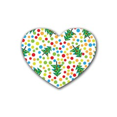 Pattern Circle Multi Color Heart Coaster (4 Pack)  by Sapixe