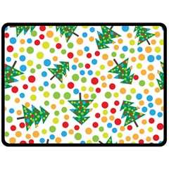 Pattern Circle Multi Color Fleece Blanket (large)