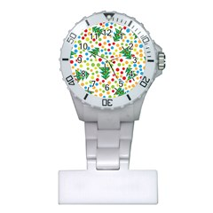 Pattern Circle Multi Color Plastic Nurses Watch by Sapixe
