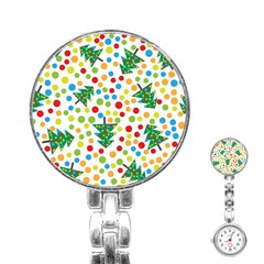 Pattern Circle Multi Color Stainless Steel Nurses Watch by Sapixe