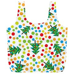 Pattern Circle Multi Color Full Print Recycle Bags (l)