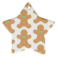 Pattern Christmas Biscuits Pastries Star Ornament (two Sides) by Sapixe