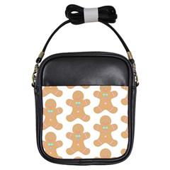 Pattern Christmas Biscuits Pastries Girls Sling Bags