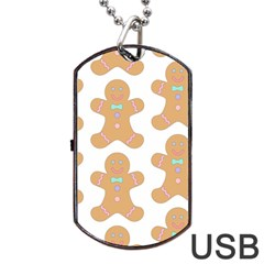 Pattern Christmas Biscuits Pastries Dog Tag Usb Flash (one Side) by Sapixe