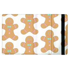 Pattern Christmas Biscuits Pastries Apple Ipad 2 Flip Case by Sapixe