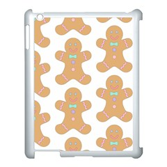Pattern Christmas Biscuits Pastries Apple Ipad 3/4 Case (white) by Sapixe