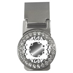 Metal Circle Background Ring Money Clips (cz)  by Sapixe