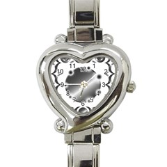 Metal Circle Background Ring Heart Italian Charm Watch by Sapixe