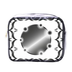 Metal Circle Background Ring Mini Toiletries Bags by Sapixe
