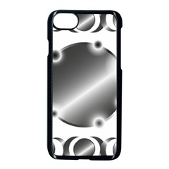 Metal Circle Background Ring Apple Iphone 7 Seamless Case (black) by Sapixe