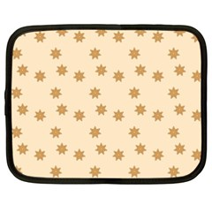 Pattern Gingerbread Star Netbook Case (xxl)  by Sapixe