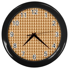 Pattern Gingerbread Brown Wall Clocks (black) by Sapixe