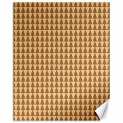 Pattern Gingerbread Brown Canvas 11  X 14   by Sapixe