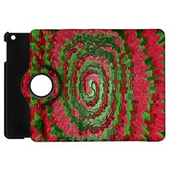 Red Green Swirl Twirl Colorful Apple Ipad Mini Flip 360 Case by Sapixe