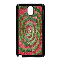 Red Green Swirl Twirl Colorful Samsung Galaxy Note 3 Neo Hardshell Case (black) by Sapixe