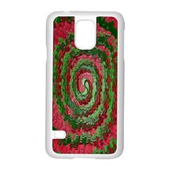 Red Green Swirl Twirl Colorful Samsung Galaxy S5 Case (white)