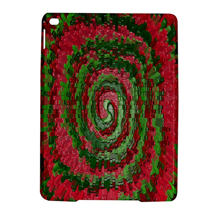 Red Green Swirl Twirl Colorful iPad Air 2 Hardshell Cases