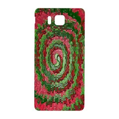 Red Green Swirl Twirl Colorful Samsung Galaxy Alpha Hardshell Back Case by Sapixe