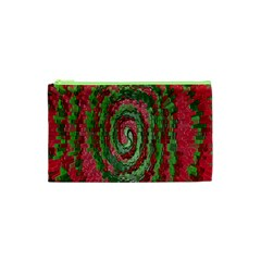 Red Green Swirl Twirl Colorful Cosmetic Bag (xs)