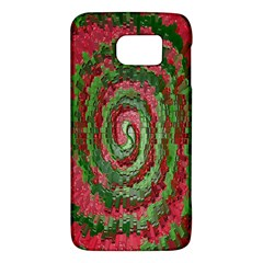 Red Green Swirl Twirl Colorful Galaxy S6 by Sapixe