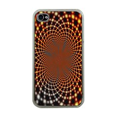 Pattern Texture Star Rings Apple Iphone 4 Case (clear)