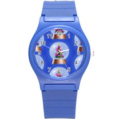 Seamless Repeat Repeating Pattern Art Round Plastic Sport Watch (s) by Sapixe