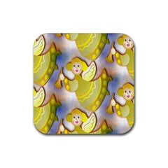 Seamless Repeat Repeating Pattern Rubber Square Coaster (4 Pack)