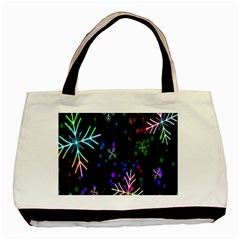 Snowflakes Snow Winter Christmas Basic Tote Bag by Sapixe