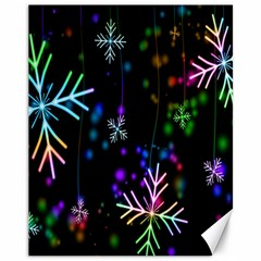 Snowflakes Snow Winter Christmas Canvas 11  X 14