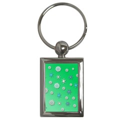 Snowflakes Winter Christmas Overlay Key Chains (rectangle)