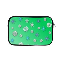 Snowflakes Winter Christmas Overlay Apple Macbook Pro 13  Zipper Case by Sapixe